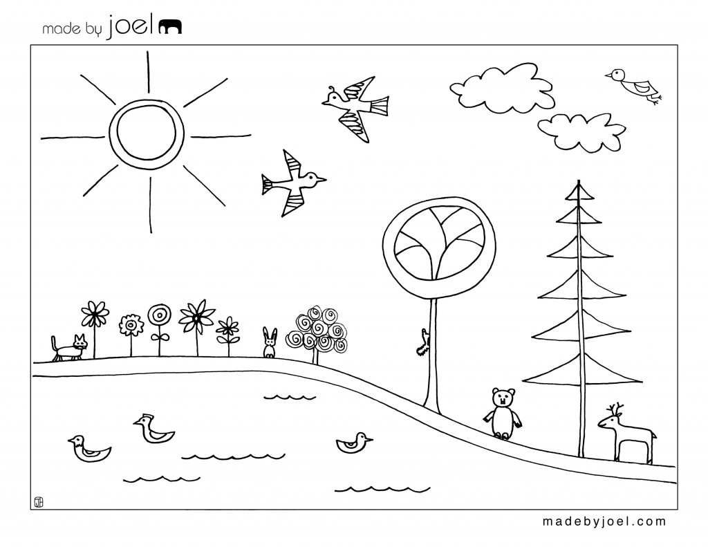 1024x791 Energy Saving Puzzle Coloring Page