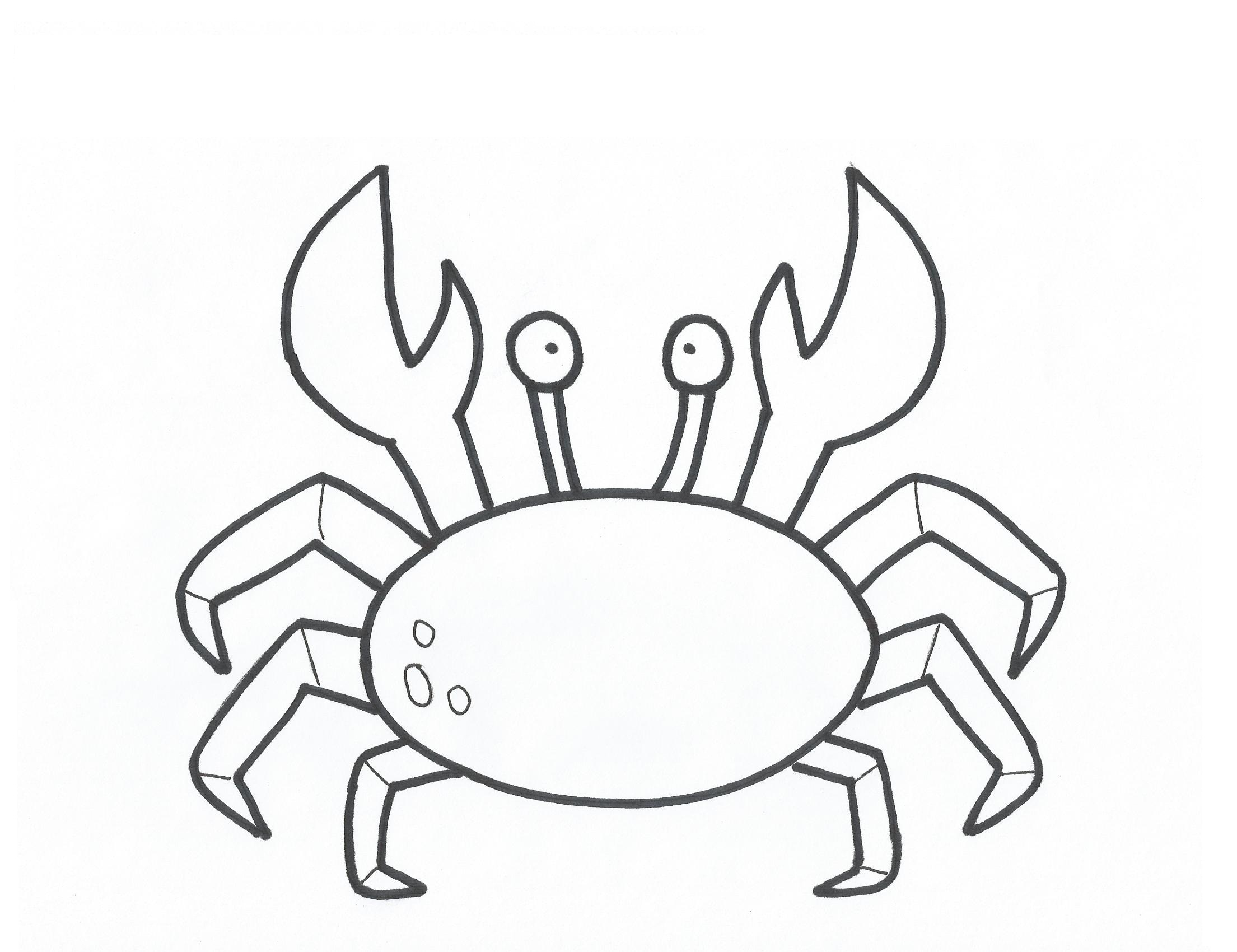 2209x1700 Crab Clipart Coloring Page