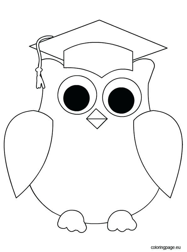 595x804 Graduation Cap Coloring Page Graduation Owl Clip Art Coloring Page