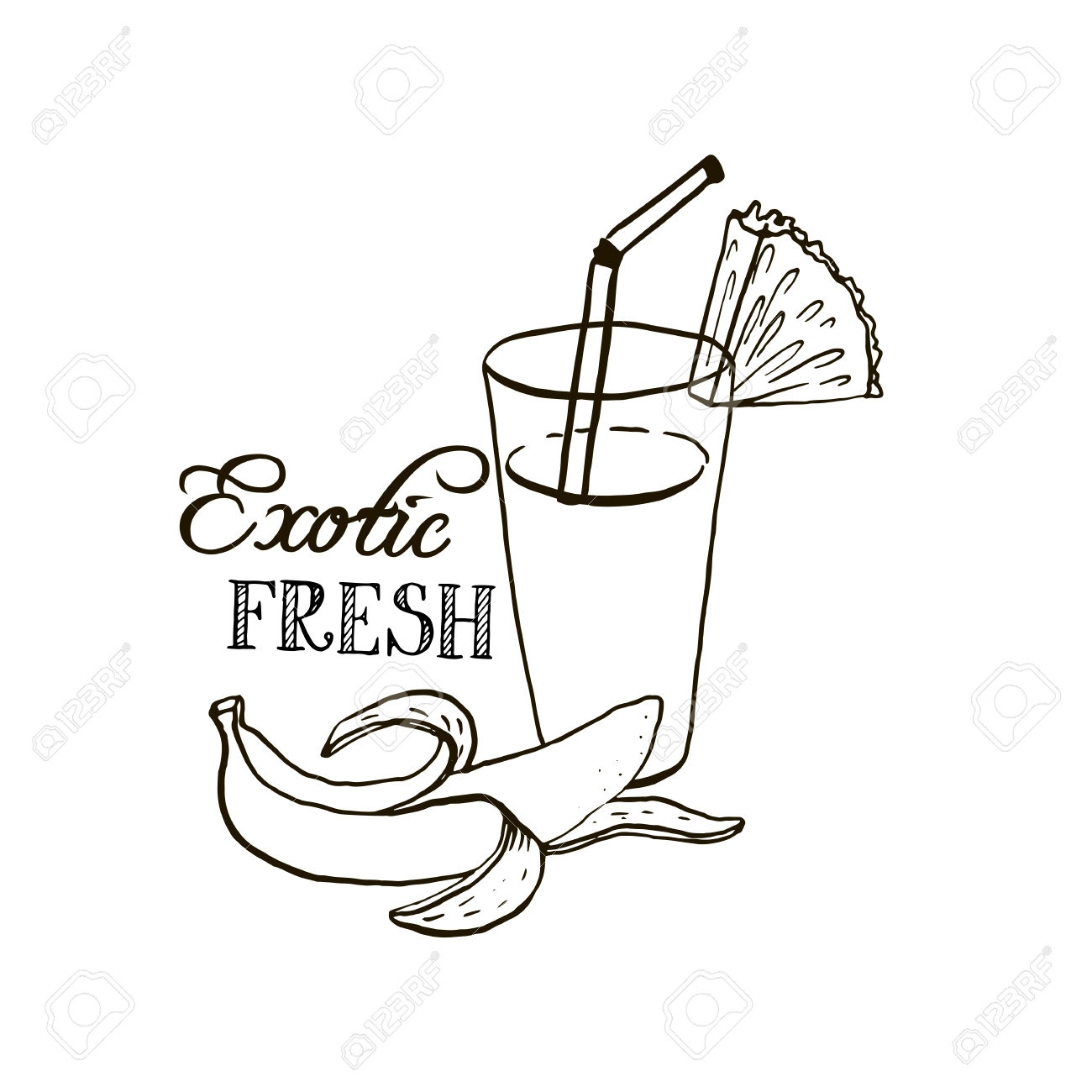1300x1300 Unique Fruit Smoothie Coloring Pages Collection Printable