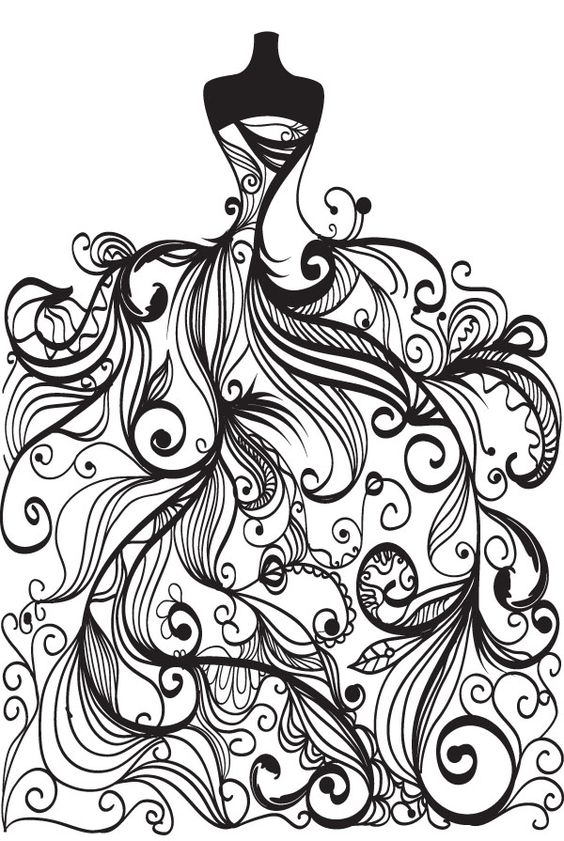 564x841 Free Vector Wedding Clip Art Coloring Page For Grown Ups