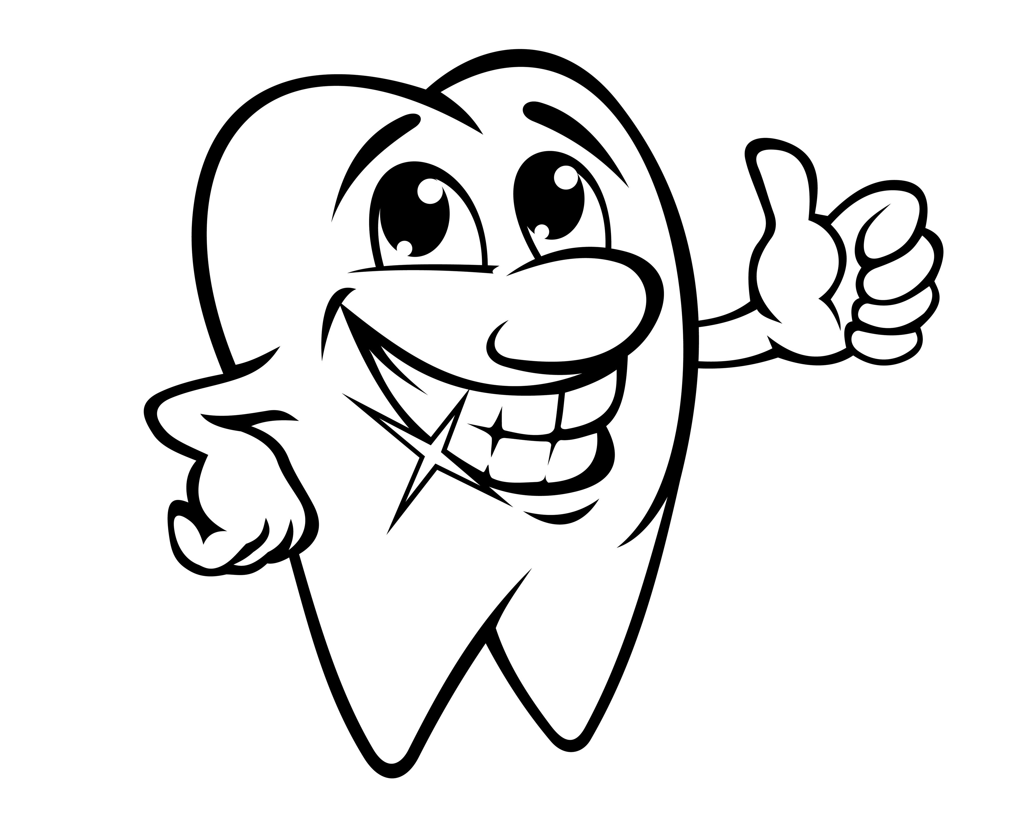 3480x2800 Amazing Happy Tooth Pattern Or Coloring Page Clip Art Library