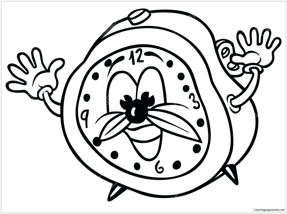 948x708 Clock Coloring Page Large Size Of Clock Coloring Page