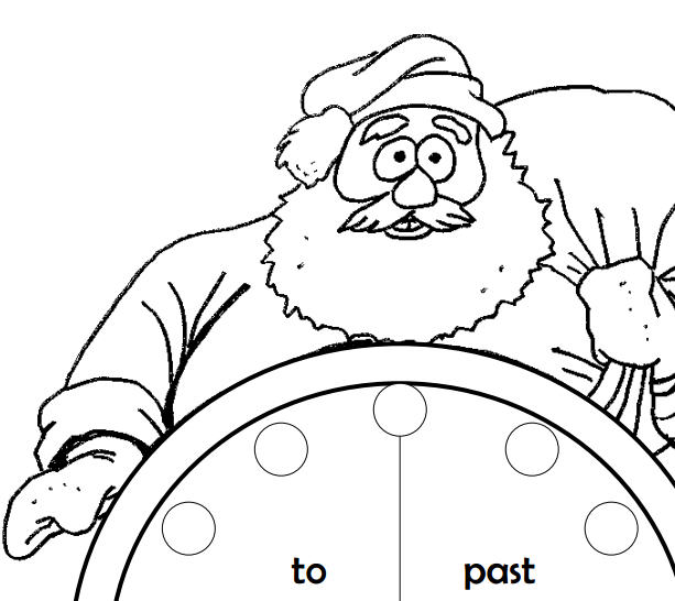 613x546 Clock Coloring Page
