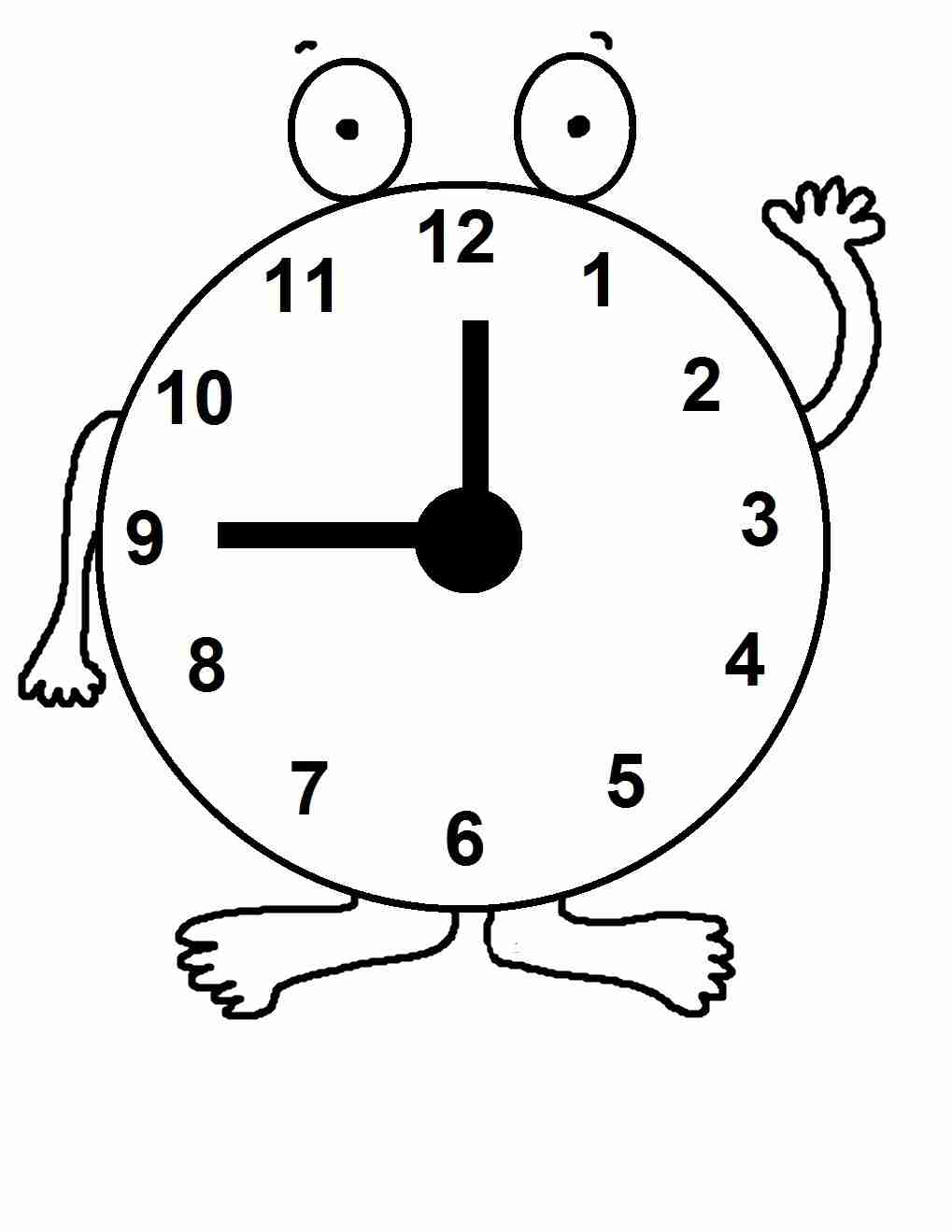 1019x1319 Clock Coloring Pages Tags Exceptional Page Olegratiy