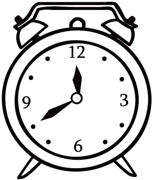 600x699 Clock Coloring Pages For Kids Best Place To Color