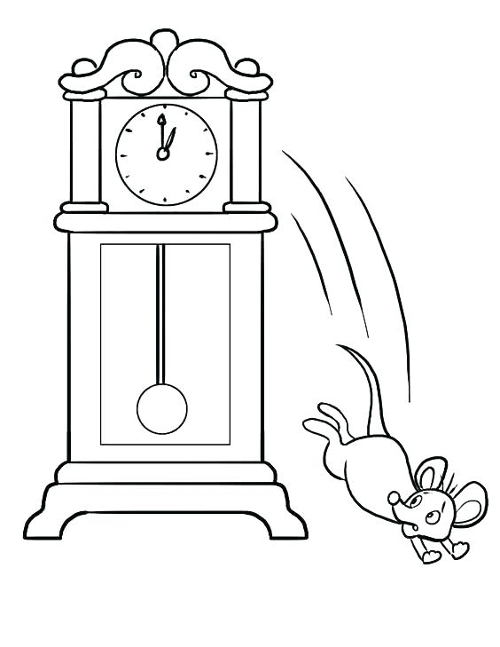 564x729 Cuckoo Clock Coloring Page Hickory Dock Coloring Page Hickory Dock