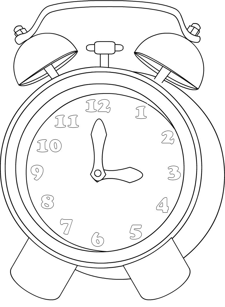 780x1066 Printable Clock Coloring Pages Coloring Me