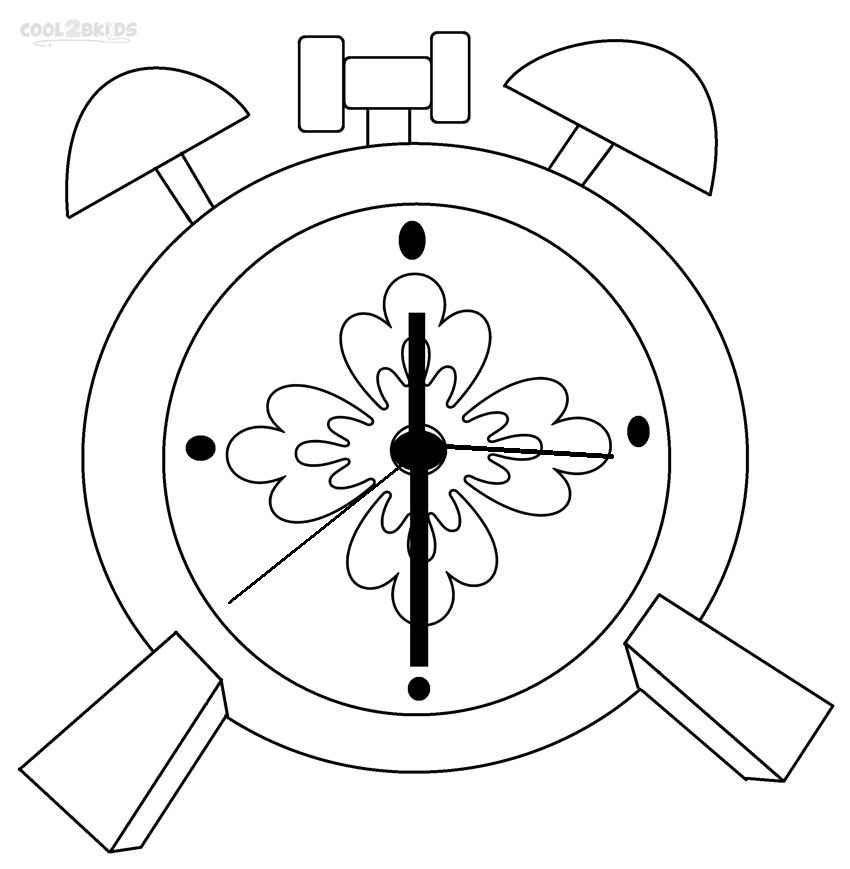850x869 Printable Clock Coloring Pages For Kids