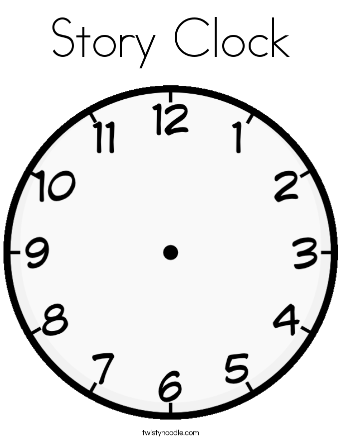 685x886 Story Clock Coloring Page