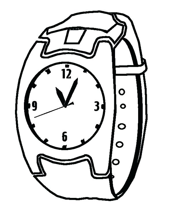 600x750 Watch Coloring Page Watch Clock Coloring Pages Watch Dogs Coloring
