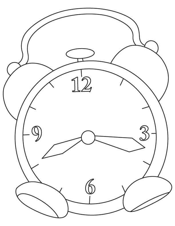 612x792 Clock Coloring Page Alarm Clock Coloring Page Grandfather Clock