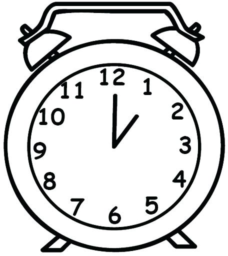 456x512 Clock Coloring Page Coloring Pages Clock Cuckoo Clock Coloring