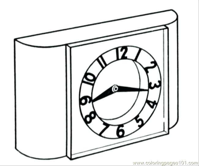 650x542 Clock Coloring Page Free Clocks Coloring Pages Grandfather Clock