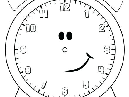 440x330 Clock Coloring Page Clock Image Coloring Pages Grandfather Clock