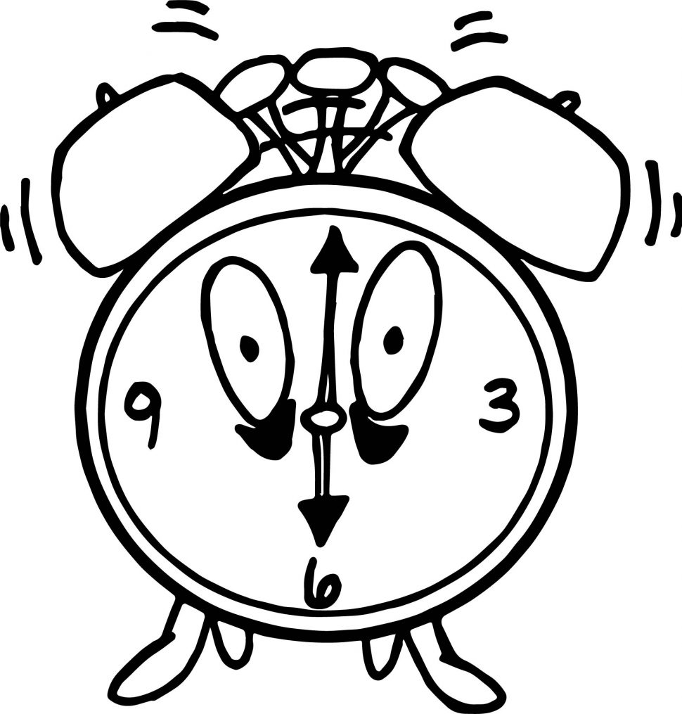 970x1015 Hanging Clock Coloring Page Free Pages Online Inside