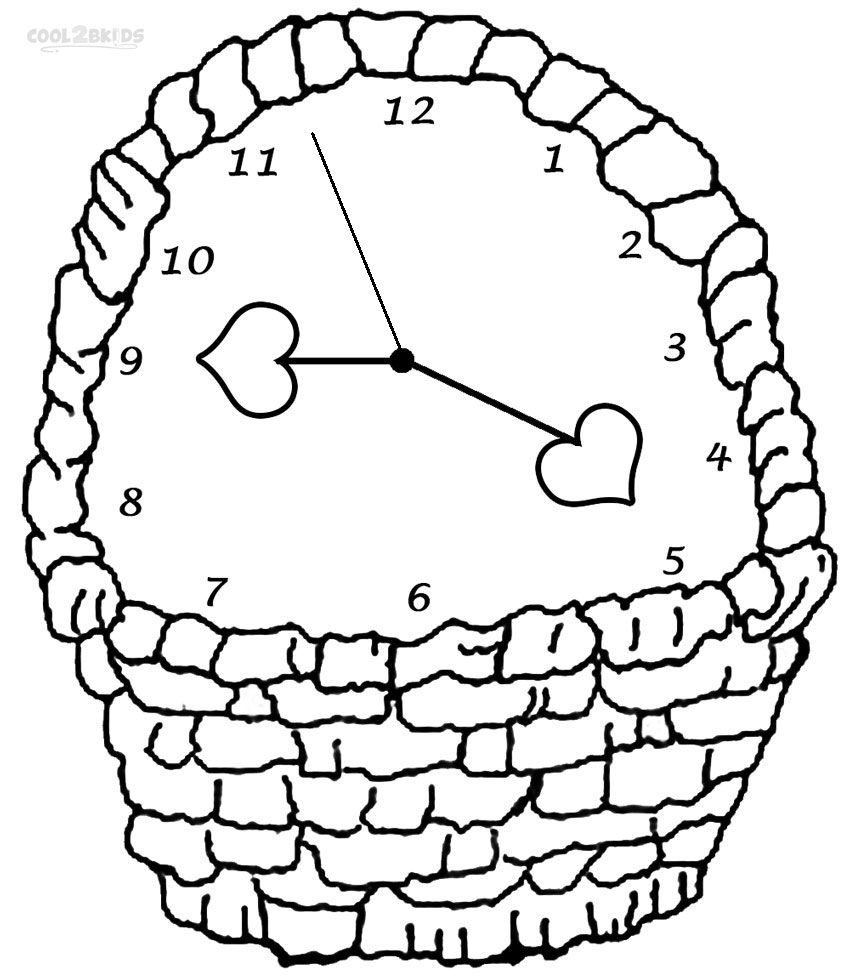 850x978 Printable Clock Coloring Pages For Kids