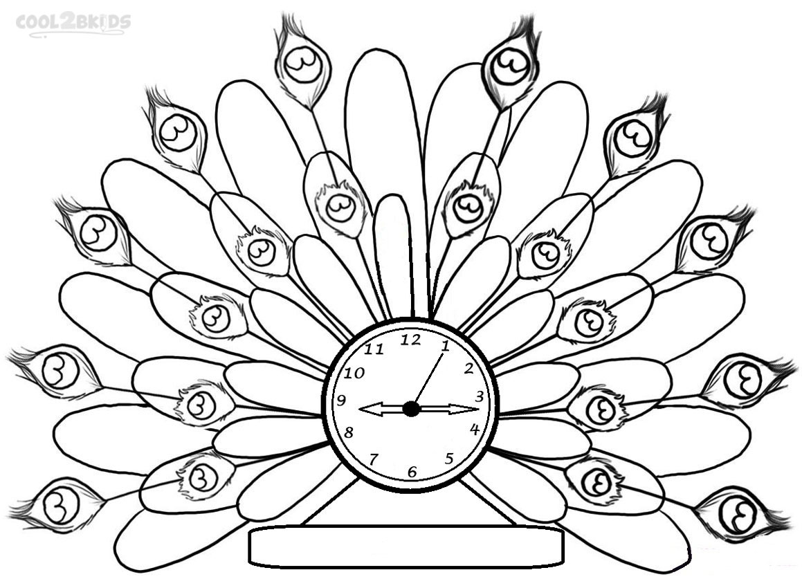 1159x850 Printable Clock Coloring Pages For Kids Inside Page