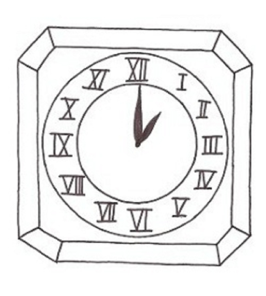 899x1000 Printable Clock Coloring Pages For Kids In Page