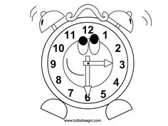 236x177 Smart Printable Clock Coloring Pages For Kids Kids