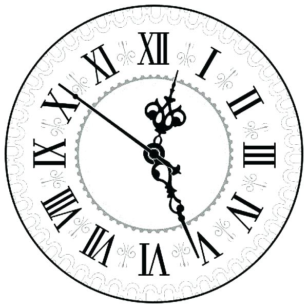 Clock Coloring Pages Printable At Getdrawings Com Free For