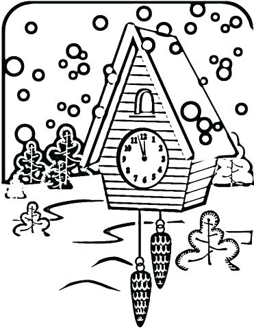 371x480 Clock Coloring Page Clock Coloring Page Clock Coloring Page Cuckoo