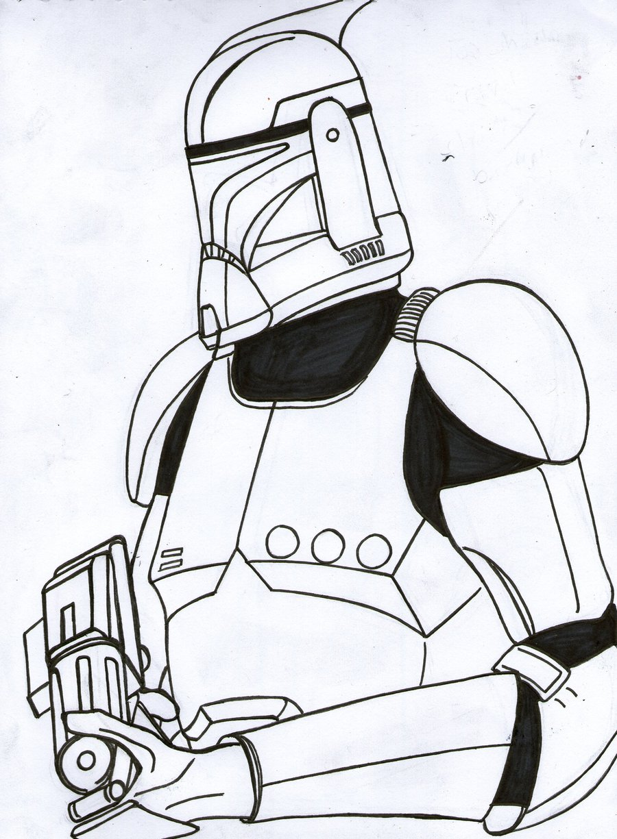 Clone Trooper Coloring Pages At Getdrawings Com Free For