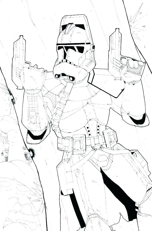 625x950 Clone Coloring Pages Star Wars Clone Coloring Pages Clone Trooper