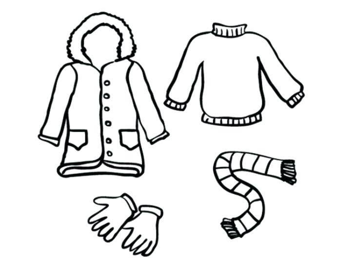 728x543 Winter Clothes Coloring Pages Winter Clothes Colouring Page