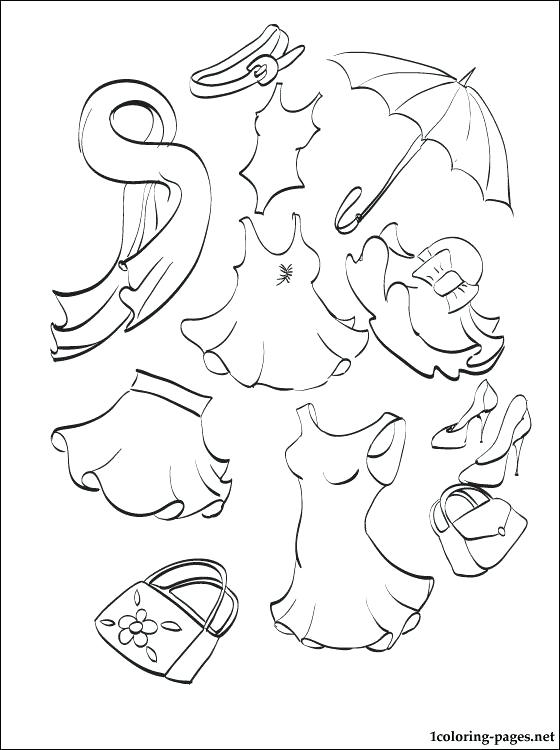 560x750 Clothes Coloring Page S Summer Clothes Coloring Sheets