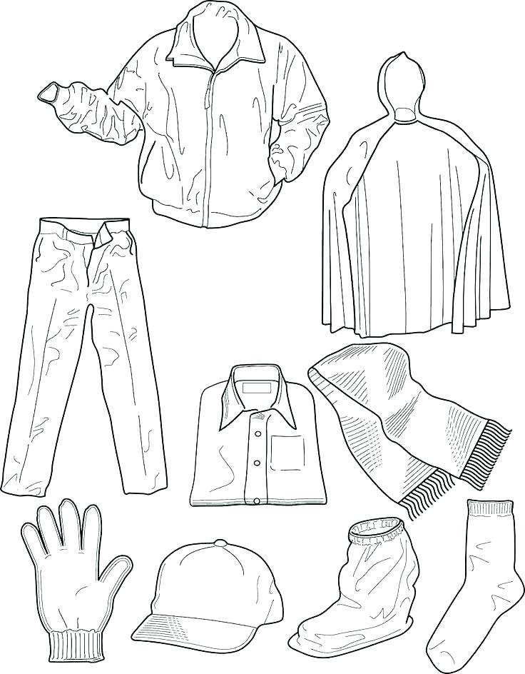 736x944 Clothes Coloring Page Winter Clothes To Protect Our Body Warm