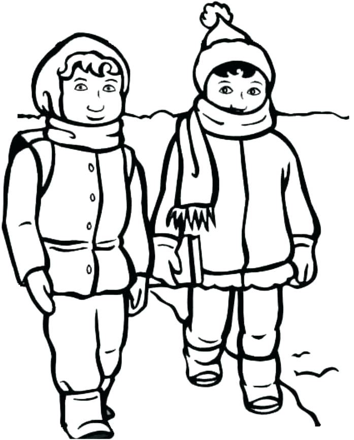 697x866 Clothing Coloring Page Winter Clothing Coloring Pages Finest Print