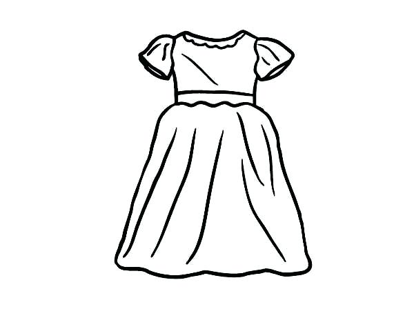 600x448 Dresses Coloring Pages Coloring Pages Of Girls In Dresses Fancy