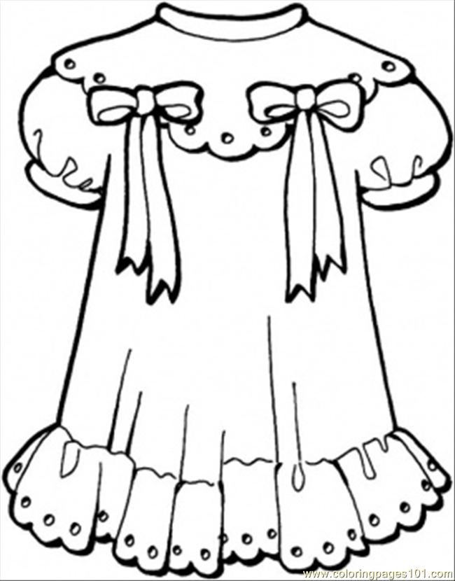 650x830 Girly Dress Coloring Page