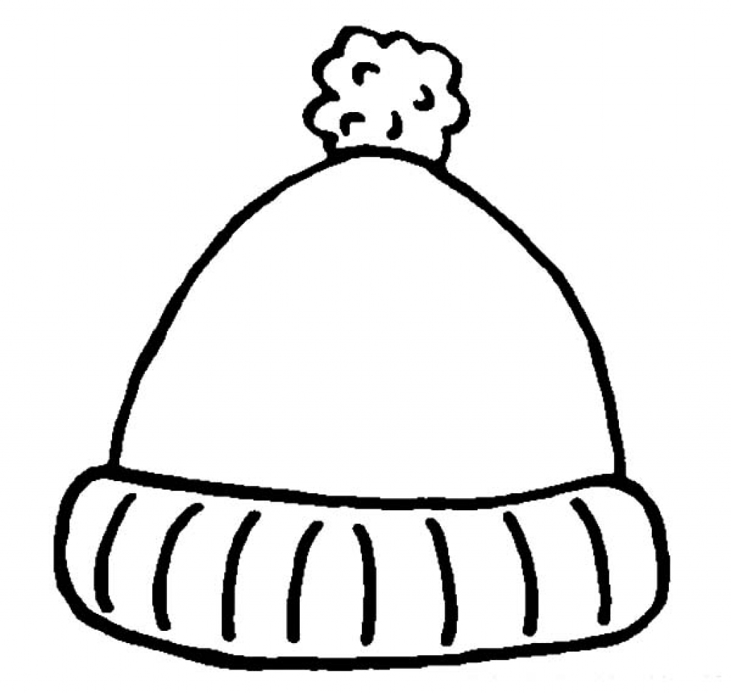 1024x971 Winter Clothes Hat Coloring Pages Free Printable Kids Shirts