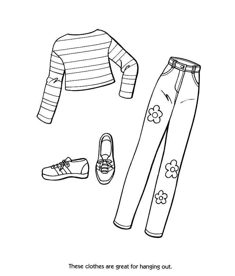 768x900 Coloring Pages Clothes Printable Professional
