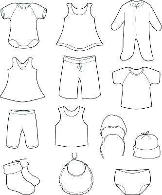 333x400 Summer Clothes Coloring Pages