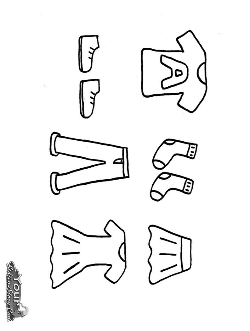 794x1054 Clothes Coloring Pages Drawing On Picture
