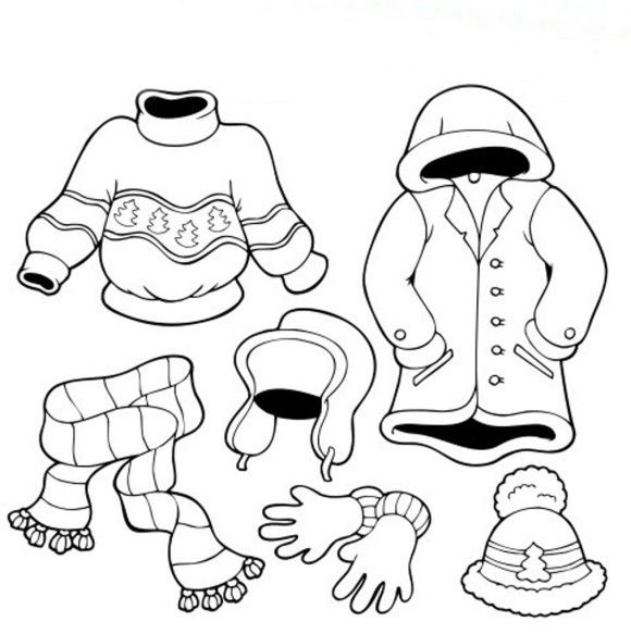Clothing Coloring Pages For Preschoolers
