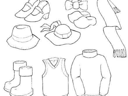 Clothing Coloring Pages For Preschoolers At Getdrawings Com Free