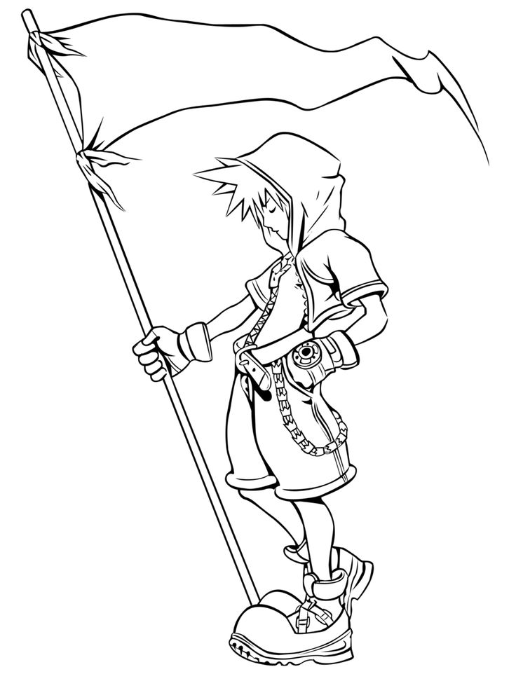 Cloud Strife Coloring Pages