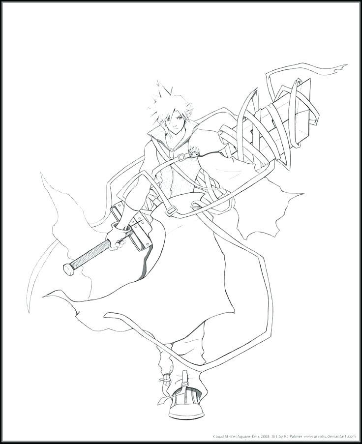 736x903 Final Fantasy Coloring Pages Final Fantasy Vii Zero