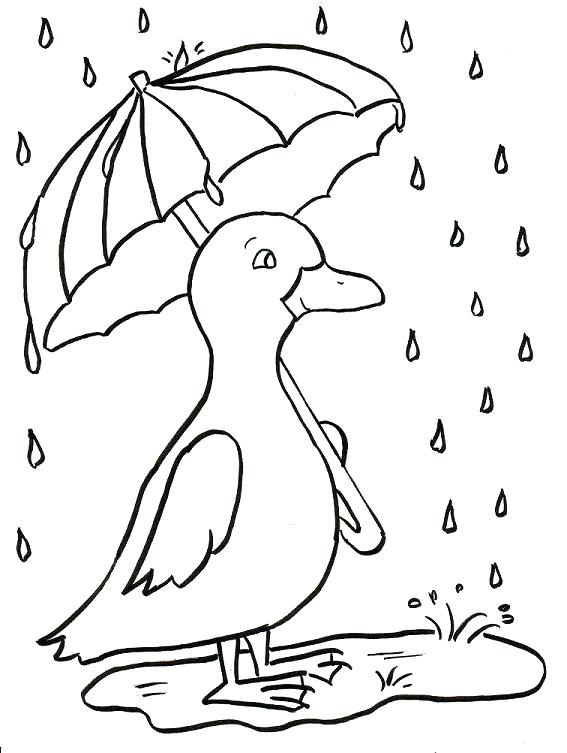567x753 Rain Coloring Page Rainy Day Coloring Pages Rain Coloring Sheet