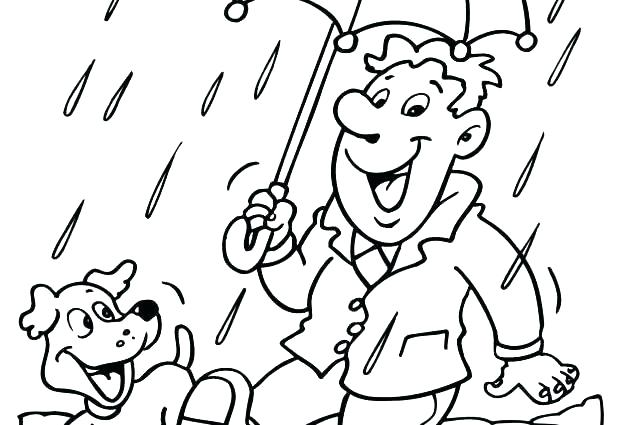 622x425 Rain Coloring Sheet Weather Coloring Page Rain Coloring Pages