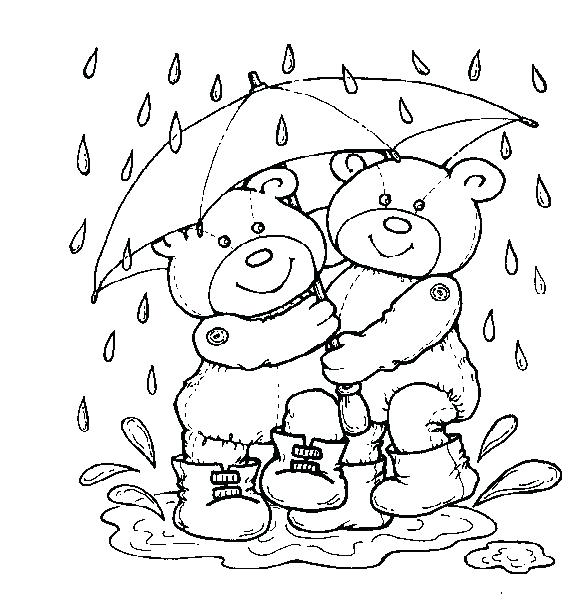 584x600 Rainy Day Coloring Page Rain Coloring Pages Page Rainy Day