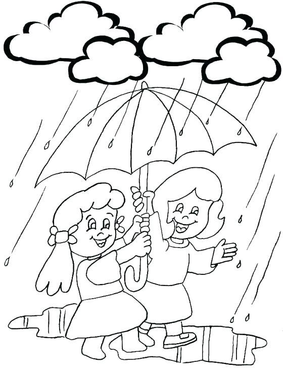 560x746 Rainy Day Coloring Page Rainy Day Coloring Pages Rainy Day