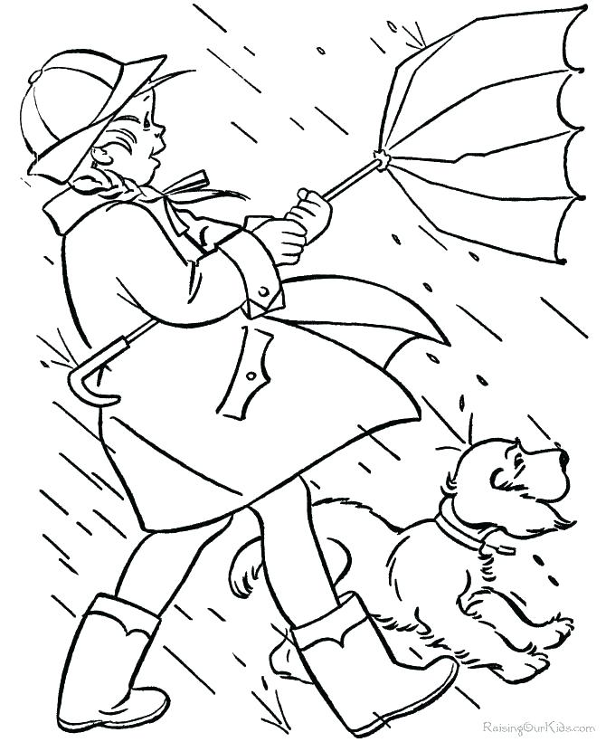 670x820 Rainy Day Coloring Pages Acorns Rainy Day Printable Coloring Rainy