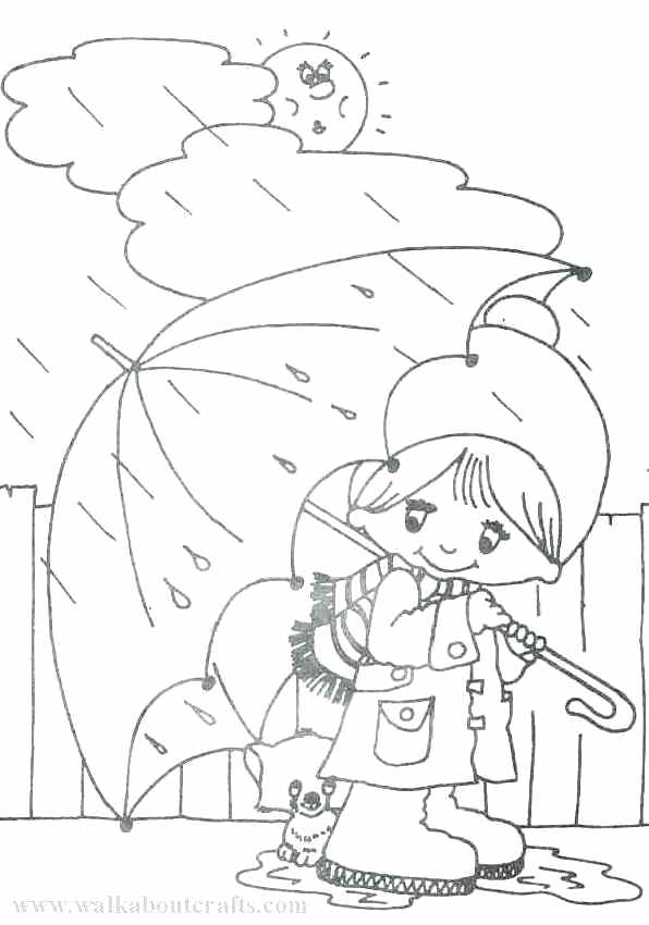 596x850 Rainy Day Coloring Pages Amazing Rainy Day Coloring Pages In Free