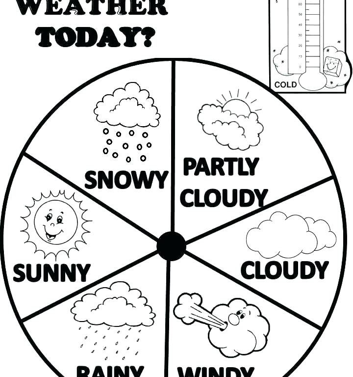 720x768 Weather Coloring Pages Rainy Day Coloring Pages Weather Coloring