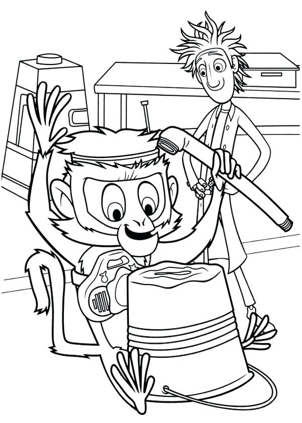 600x840 Cloudy Chance Of Meatballs Coloring Pages Playing
